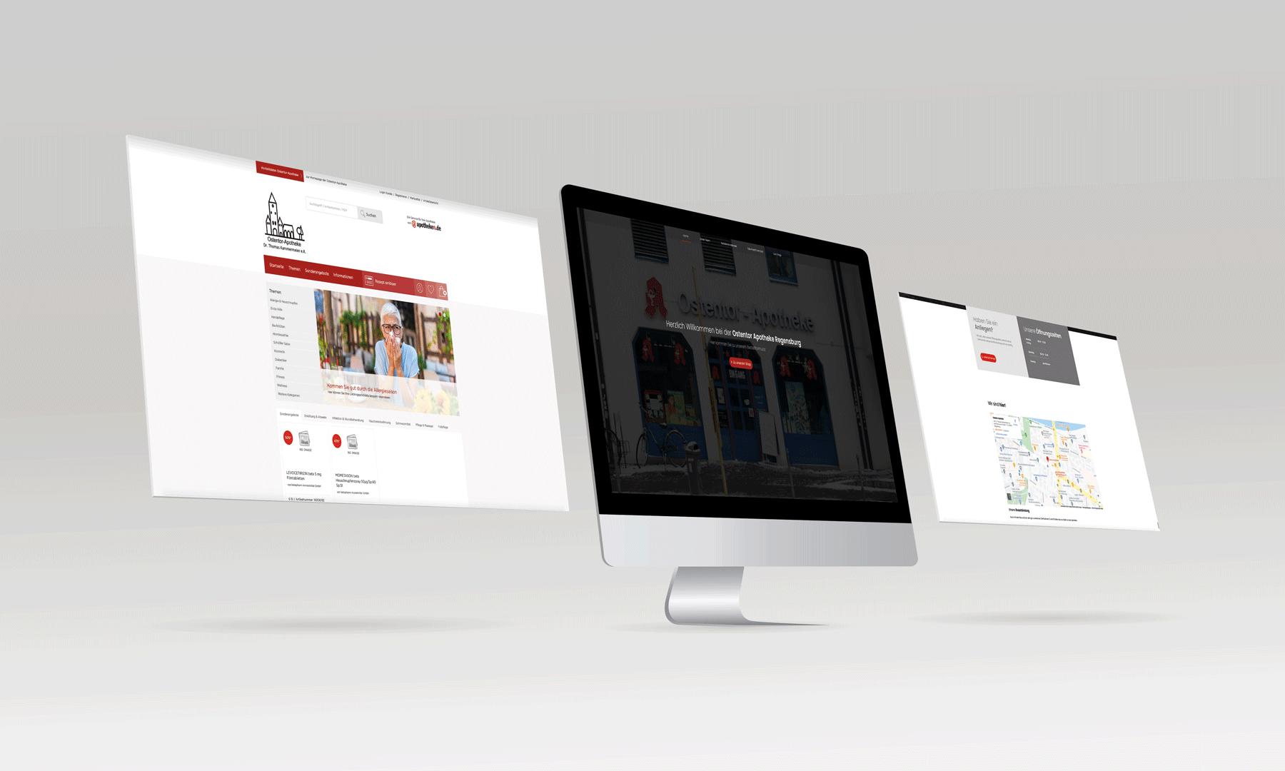 Ostentor Apotheke Regensburg [Webdesign, Online Shop]
